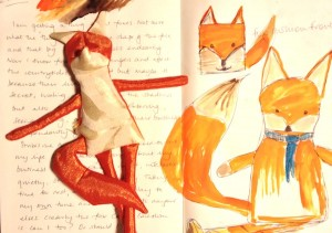 Sketchbook detail & basic fox