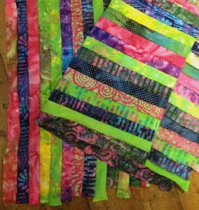 strips sewn together